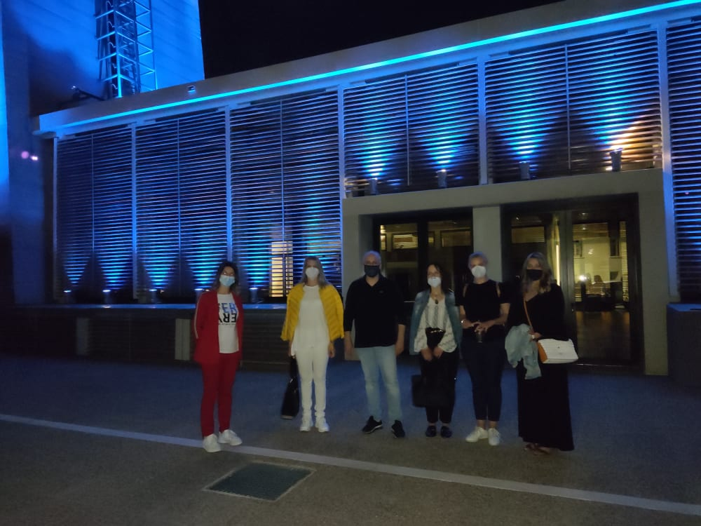 22/23-05-2021 Φωταγώγηση ένδειξη συμπαράστασης προς τους πάσχοντες από την νόσο ΚΟΙΛΙΟΚΑΚΗ
